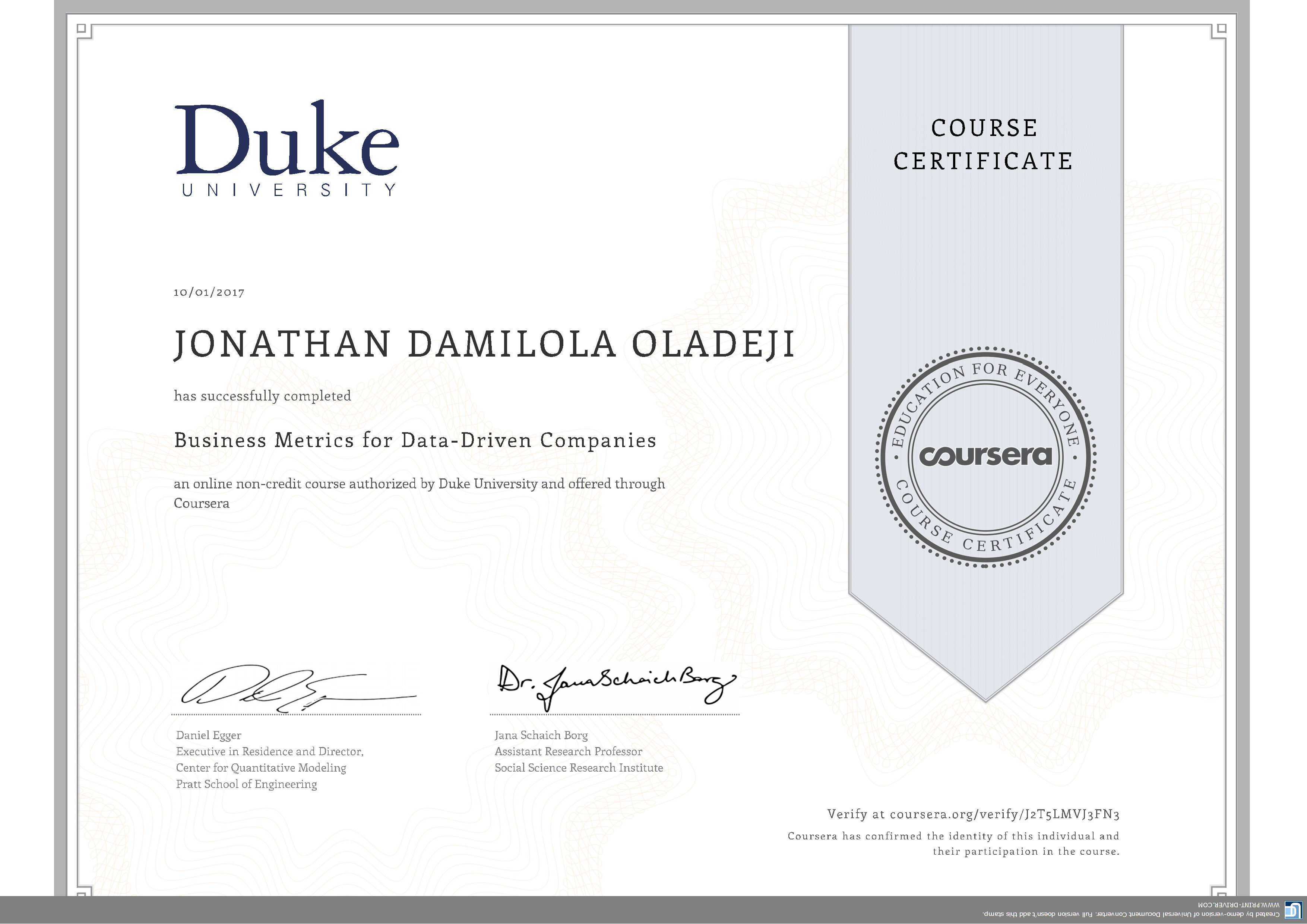 how to add coursera certifcate on resume