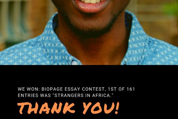 Biopages win by Damilola Jonathan Oladeji